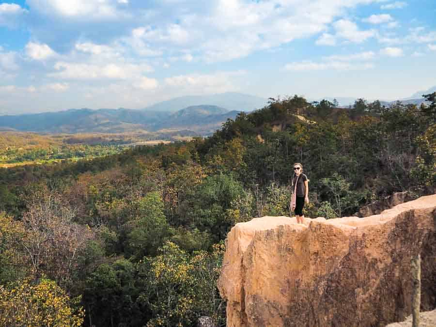 Pai Canyon edge (not recommended if your afraid of heights)